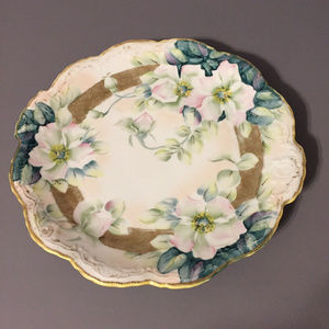 Other - Vintage hand painted floral decor plate